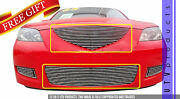 Gtg 2007 - 2009 Mazda 3 2pc Polished Replacement Billet Grille Grill Kit
