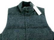Vince Mens Quilted Down Fill Wool Jacket Vest Medium 425