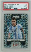 Psa 9 2018 Panini Prizm World Cup Lazer 1 Lionel Messi💎💎🐐great Investment📈