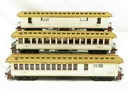 Mth 20-62029 New York And New England 64' Woodsided Pass Car Set 2-rail Ln