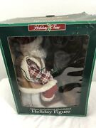 Vintage Animated Telco Motion Lighted Fishing Santa Claus Motion-ettes Rare