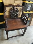 Antique Rosewood Arm Chair