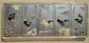 China 5 X 100g 500 Grams Silver Colored Medals / Silver Bars Set - Rooster