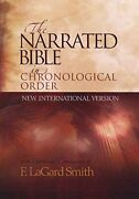 Narrated Bible In Chronological Order Niv By F. Lagard Smith - Hardcover Mint