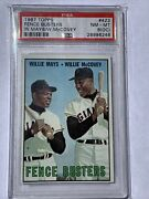 1967 Topps Fence Busters Willie Mays/willie Mccovey 423 Psa 8 Oc Nm-mt Graded