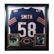 Roquan Smith Signed Chicago Bears Framed Premium Deluxe Jersey - Bas
