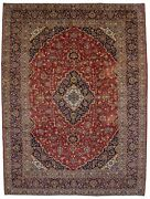 Hand Knotted Semi Antique Large 10x14 Classic Design Oriental Rug Wool Carpet