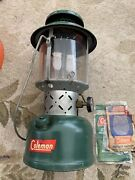 Vintage Coleman Sunshine Of The Night Green Two Mantle Lantern 220e
