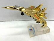 Vintage Chinese Air Force Fighter Jet Metal Aircraft Desk Display