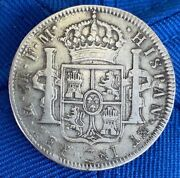 Mexico 1794 8 Reales Error Double Struck Both Sides Very Rare Silver Colonial