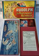 Rare Vg 1948 Parker Brothers Rudolph Red Nosed Reindeer Board Game Mint Complete