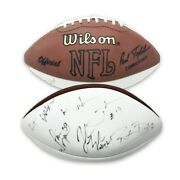 Keyshawn John John Lynch Ronde Barber And Others Signed White Panel Football