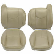 Front Lh/rh Seat Cover For 2003-2006 Chevy Silverado Andgmc Sierra Leather Tan