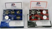 2007 50 State Quarters Proof Silver And Clad Set Pair W/coaand039s - Free Shipping Usa