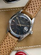 Rolex Oysterdate Precision 6694 Used Vintage Black Dial Menandrsquos Leather 34mm Watch