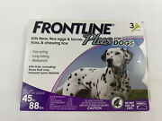 Frontline Plus Flea Tick Treatment For Large Dogs 45-88 Lbs 3 Doses