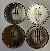 Lincoln Wire Wheel Chips Emblems Gold Metal Size 2.25andrdquo Zenith Style Set Of 4