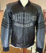 Harley Davidson Menandrsquos Size Medium Black/gray Leather Jacket In Great Condition