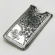 Victorian Sterling Silver Calling Card Case Birmingham 1898 Rolason Brothers