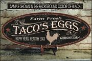Rooster Chicken Coop Farmhouse Decor Gift Custom Personalized Sign 12x30 Inch