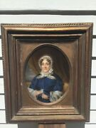 Painting In The Manner Of Sir John Everett Millais Portrait Oil/wood Panel