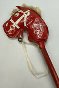 The Romper Room Tv Show Stick Horse Red White Wooden Broom Handle Vintage