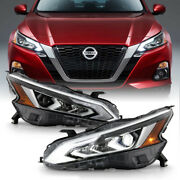Full Led Projector Headlights Drl Strip Headlamps Pair For 19-21 Nissan Altima