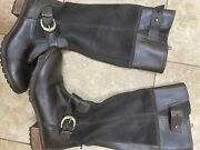 Bethel Tall Brown Sz 9 M Women Leather Knee-high Riding Boots