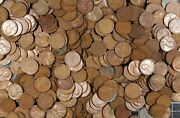 Wheat Cents Old Us Copper Cents 5 Lbs Obsolete Coins1940's Lincoln