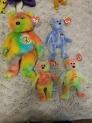 1st Gen Beanie Baby Peace Bear Lot Mint Condition..sold As A Family 93/ 10yrs