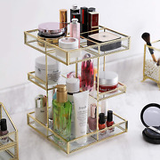 360 Degree Rotation Glass Makeup Organizer,perfume Display Case And Cosmetic