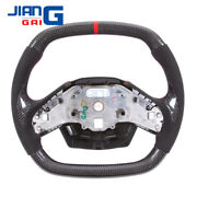 Fit In Corvette C8 Carbon Fiber Steering Wheel With Black Carbon Thumb Grips