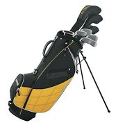 Wilson Ultra Mens Complete 13 Piece Right Handed Golf Club Set And Stand Yellow