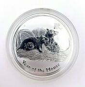 Year Of The Mouse - 1 Dollar Oz - 999 Silver - Coin Capsule - 2008 Australia
