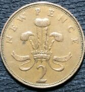 Rare 1971 New Pence 2 Collector Coin Bronze Good Condition First Year-uk
