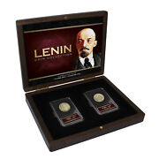 The Lenin Collection Soviet Union Coin And Gdr East German Stamp Set