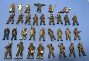 Vintage 1940s/1950s 28 Barclay Manoil Podfeet And 4 Other Cast Lead Soldiers