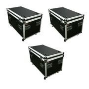 3 Utility Case Truck Pack 45 Ata Flight Road Case W/ Wheels W/diividers And Tray