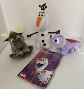 Frozen 2 Lot Plush Olaf 9, Bruni The Fire Spirit, 9 Young Sven 6, Board Book