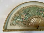 Antique French Fan - Mother Of Pearl And Lace - Excellent Condition