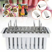 Stainless Steel Frozen Ice Cream Juice Pop Ice Popsicle Pop Mold Maker Only