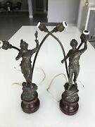 2 Vintage Lamps Metal From Germany Rare