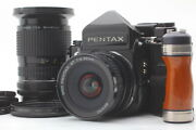 [mint] Pentax 67 Ttl Mup Late Model Camera + P 45/4 90-180/5.6 Lens From Japan