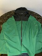The Mens Rdt Rain Jacket A4af Green And Dark Grey Size Large
