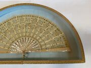 Antique French Fan - Mother Of Pearl - Perfect Condition