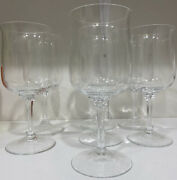 Set Of 7 Lenox Crystal Intrigue Wine Goblets 6.25 Excellent Condition 12 Oz