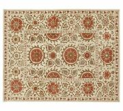 Old Style Suzani Beige Handmade Traditional Oriental 100 Woolen Rugs And Carpet