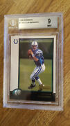 1998 Bowman 1 Peyton Manning Rookie Card Rc Graded Mint Bgs 9 Hof Centered 9.5