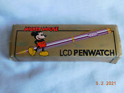 Very Rare Vtg Mickey Mouse Lcd Penwatch Walt Disney Productions- Unused