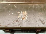 Rare Wwii/vietnam Us Coast Guard First Aid Kit Container